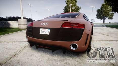Audi R8 plus 2013 Wald rims for GTA 4 back left view
