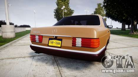 Mercedes-Benz 560SEL W126 for GTA 4 back left view