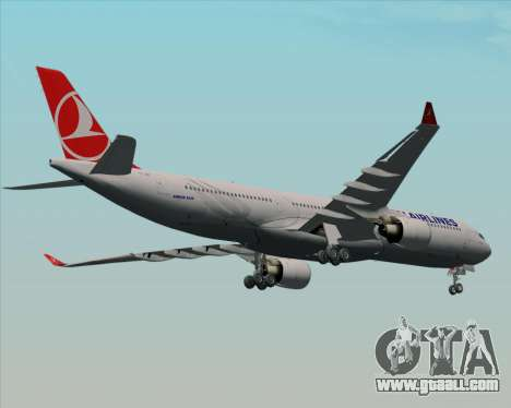 Airbus A330-300 Turkish Airlines for GTA San Andreas inner view