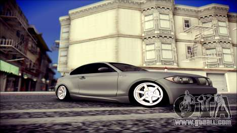 BMW 135i for GTA San Andreas back left view