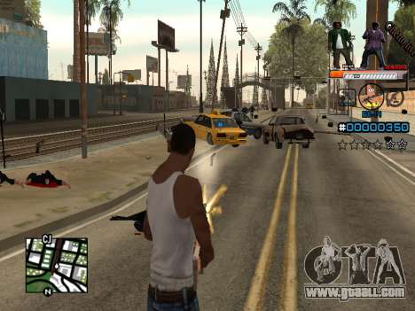 C-HUD Ghetto Live for GTA San Andreas third screenshot