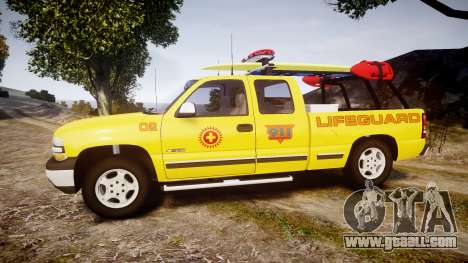 Chevrolet Silverado Lifeguard Beach [ELS] for GTA 4 left view