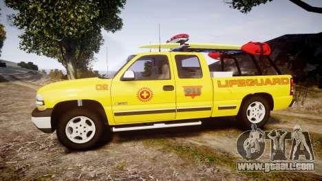 Chevrolet Silverado Lifeguard Beach [ELS] for GTA 4 left view