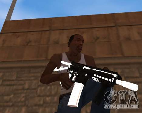 White Chrome Gun Pack for GTA San Andreas