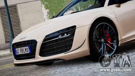 Audi R8 LMX 2015 EPM for GTA 4 back left view