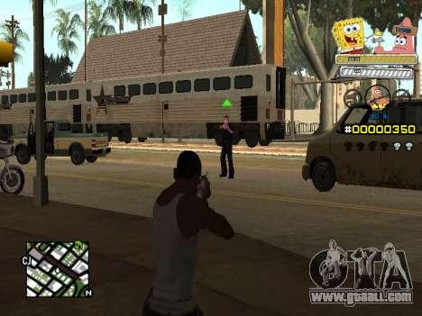 C-HUD Sponge Bob for GTA San Andreas third screenshot