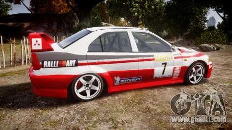 Mitsubishi Lancer Evolution VI Rally Edition for GTA 4 left view