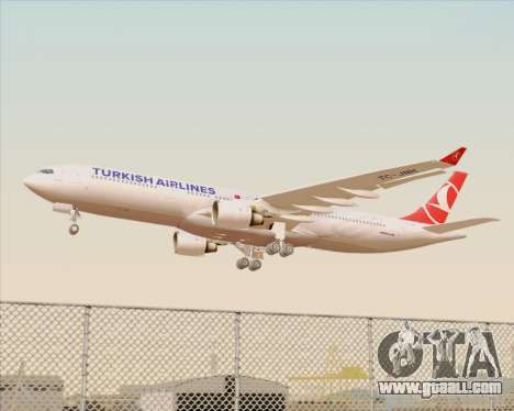 Airbus A330-300 Turkish Airlines for GTA San Andreas wheels
