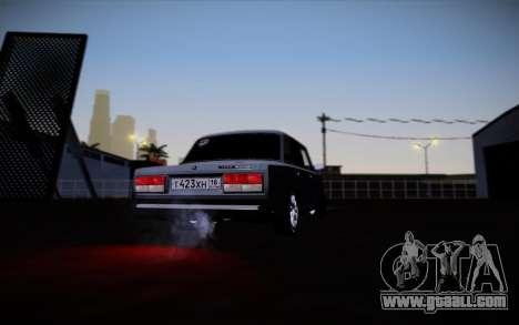 VAZ 2107 for GTA San Andreas bottom view