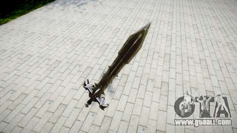 The sword-the Black knight- for GTA 4 second screenshot