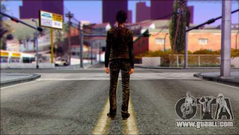 Ellie from The Last Of Us v3 for GTA San Andreas second screenshot