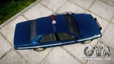 GTA V Vapid Police Cruiser Gendarmerie1 for GTA 4 right view