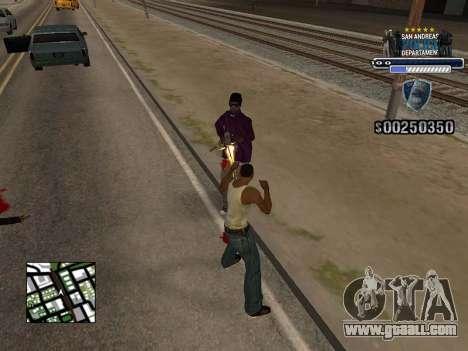 Police HUD for GTA San Andreas second screenshot
