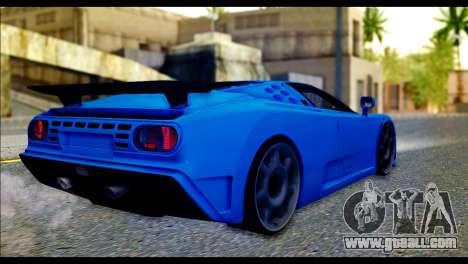 Bugatti EB110SS for GTA San Andreas left view