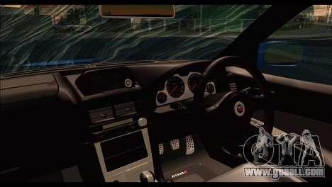 Nissan Skyline R-34 for GTA San Andreas back left view