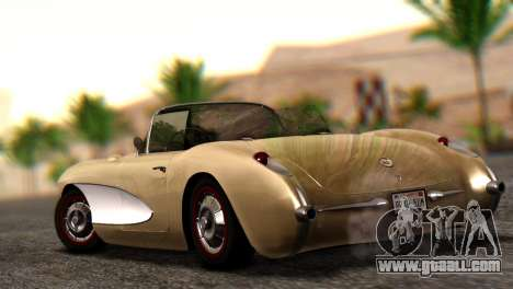 Chevrolet Corvette C1 1962 Dirt for GTA San Andreas left view