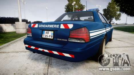 GTA V Vapid Police Cruiser Gendarmerie1 for GTA 4 back left view