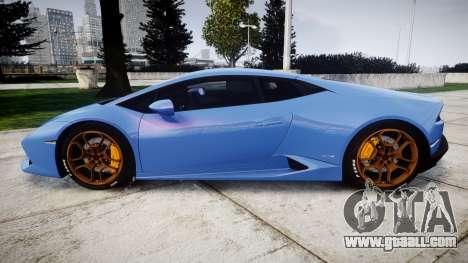 Lamborghini Huracan LP610-4 2015 for GTA 4 left view