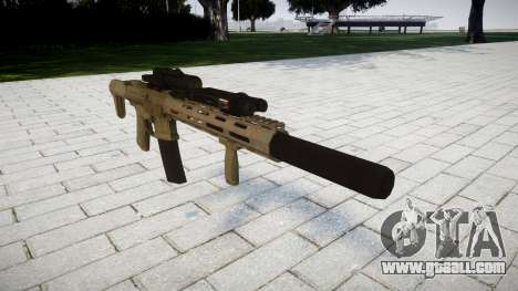 Assault rifle AAC Honey Badger [Remake] for GTA 4