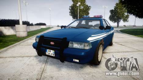 GTA V Vapid Police Cruiser Gendarmerie1 for GTA 4