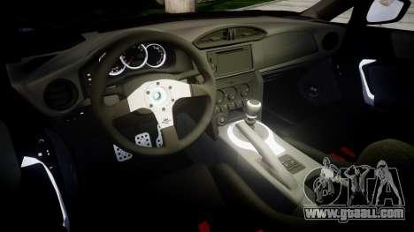 Subaru BRZ 2011 for GTA 4 inner view