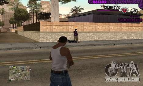 Ballas C-HUD for GTA San Andreas