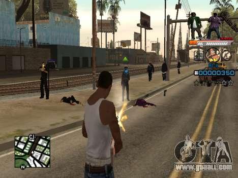 C-HUD Ghetto Live for GTA San Andreas