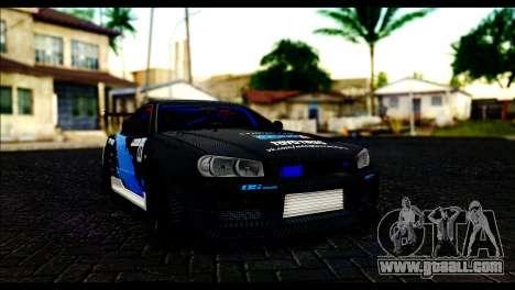 Nissan Skyline GT-R 34 Toyo Tires for GTA San Andreas