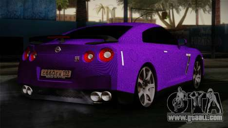 Nissan GTR-R35 for GTA San Andreas left view