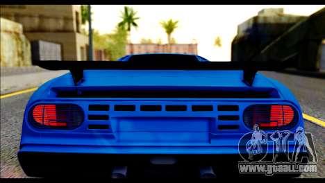 Bugatti EB110SS for GTA San Andreas back view