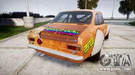 Ford Escort Mk1 Rust Rod v2.0 for GTA 4 back left view