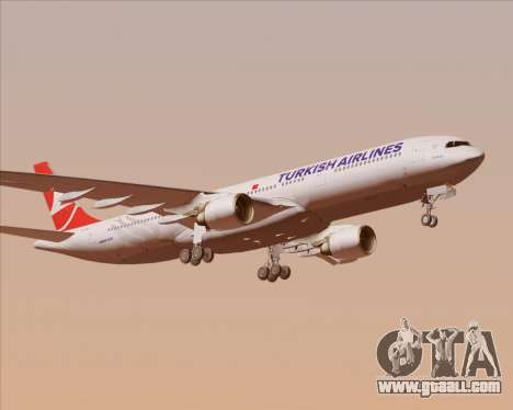 Airbus A330-300 Turkish Airlines for GTA San Andreas upper view