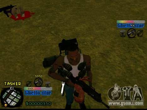 C-HUD Ghetto Star for GTA San Andreas second screenshot