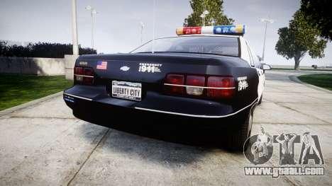 Chevrolet Caprice 1991 LAPD [ELS] Patrol for GTA 4 back left view