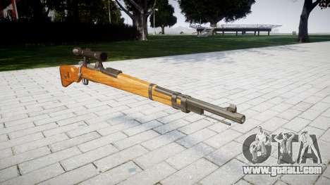 The magazine rifle Karabiner 98k for GTA 4