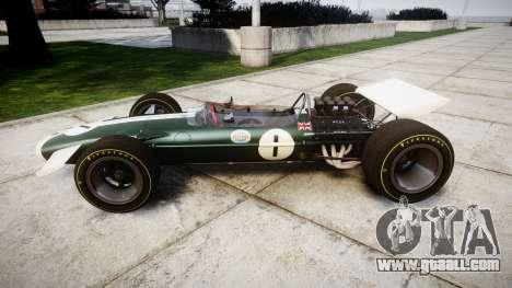 Lotus Type 49 1967 [RIV] PJ1-2 for GTA 4 left view