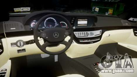 Mercedes-Benz S65 W221 AMG v2.0 rims2 for GTA 4 inner view