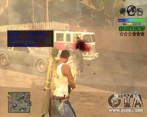 C-HUD Simple for GTA San Andreas second screenshot