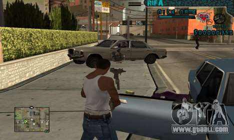 C-HUD Rifa Gang for GTA San Andreas second screenshot