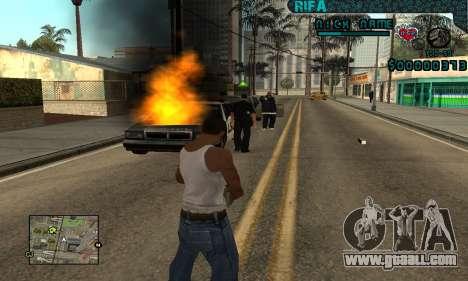 C-HUD Rifa Gang for GTA San Andreas forth screenshot