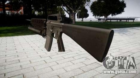 Rifle M16A2 M203 sight2 for GTA 4 second screenshot