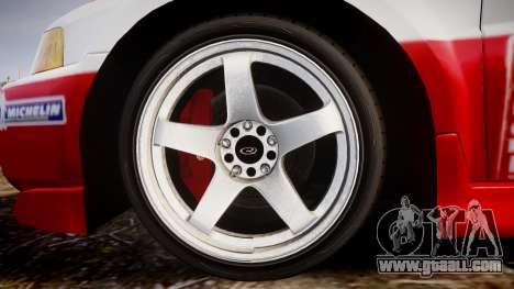 Mitsubishi Lancer Evolution VI Rally Edition for GTA 4 back view