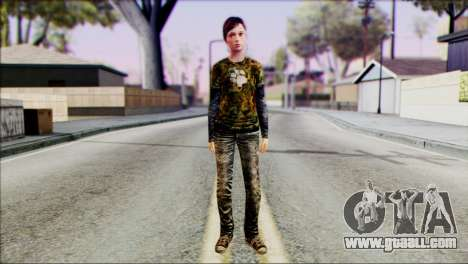 Ellie from The Last Of Us v3 for GTA San Andreas