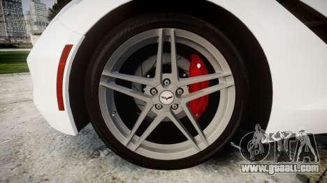 Chevrolet Corvette Stingray C7 2014 for GTA 4 back view