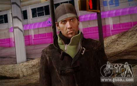 Aiden Pearce from Watch Dogs v8 for GTA San Andreas third screenshot