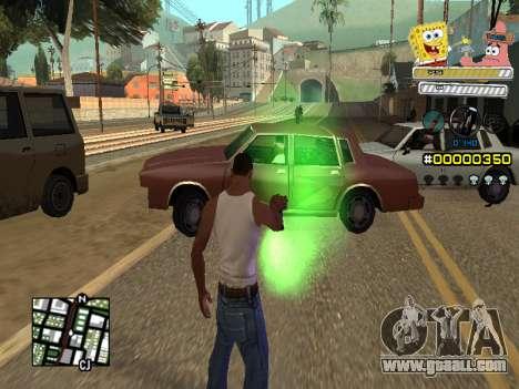 C-HUD Sponge Bob for GTA San Andreas fifth screenshot