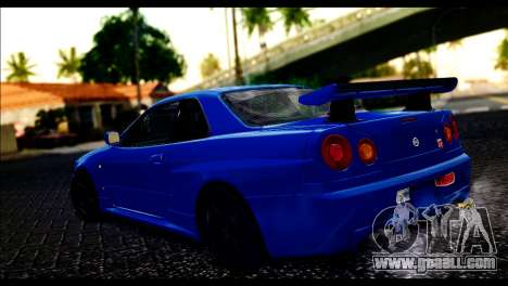 Nissan Skyline R-34 for GTA San Andreas left view
