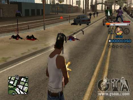 C-HUD Ghetto Live for GTA San Andreas second screenshot