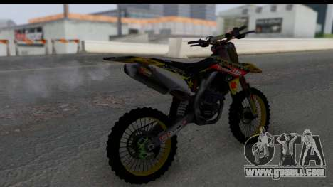 Suzuki RM-Z 450 for GTA San Andreas left view