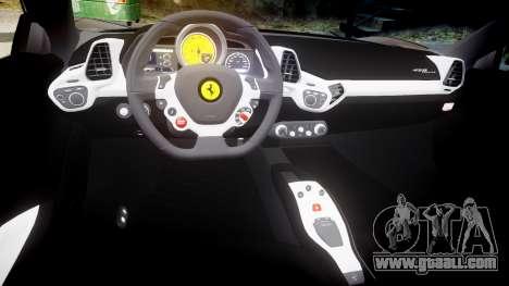 Ferrari 458 Italia 2010 v3.0 Slipknot for GTA 4 inner view
